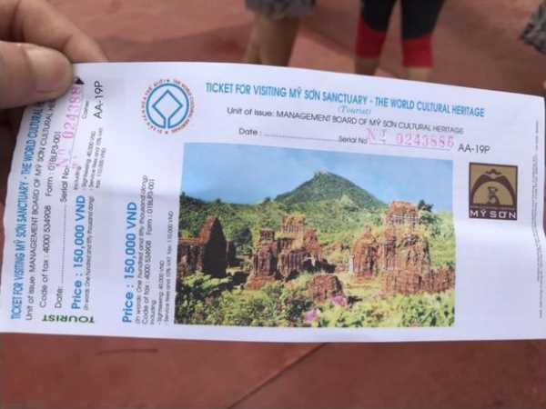 Giá vé tham quan thánh địa Mỹ Sơn