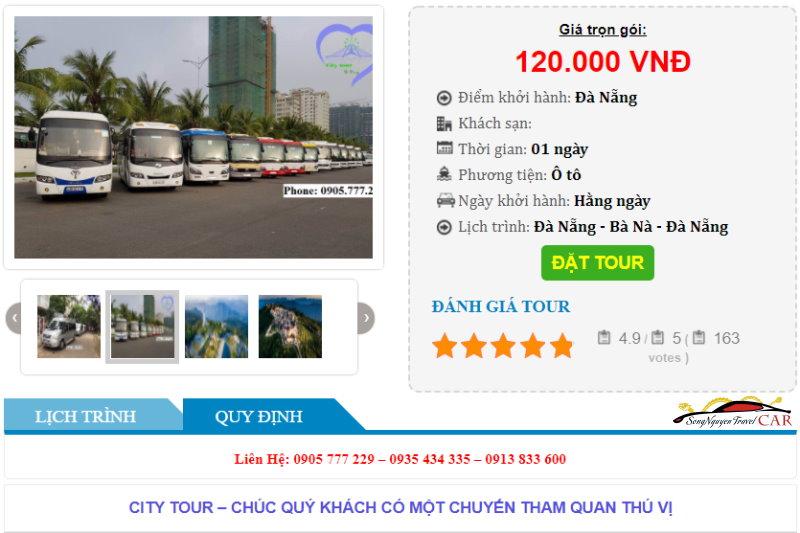 Xe bus Đà Nẵng CityTour đi Bà Nà